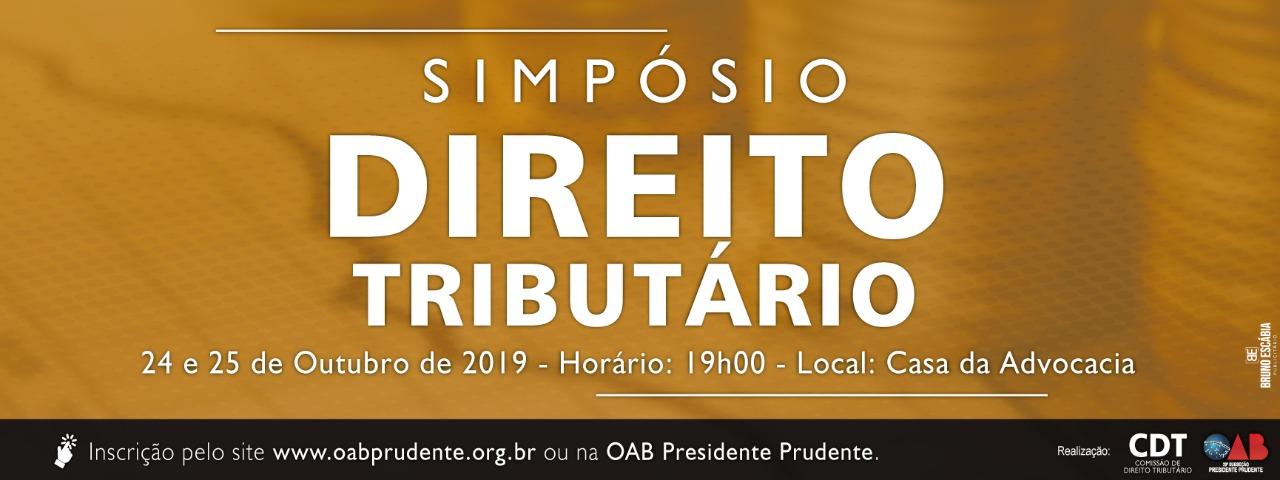 SIMPÓSIO DE DIREITO TRIBUTÁRIO