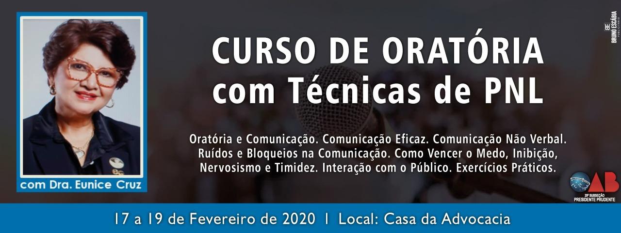 CURSO DE ORATÓRIA COM TÉCNICAS PNL