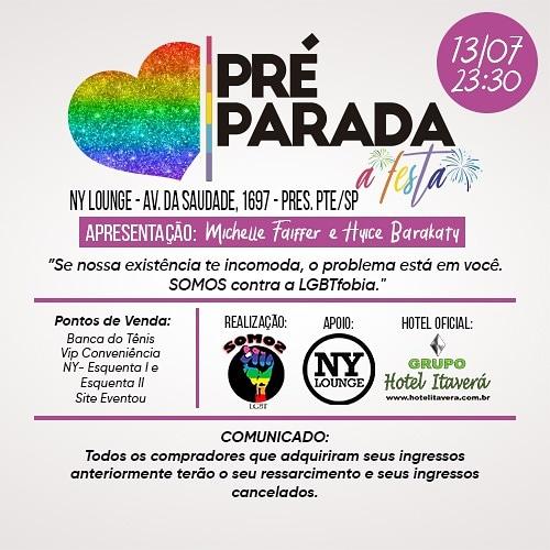Pré Parada - A FESTA!!!
