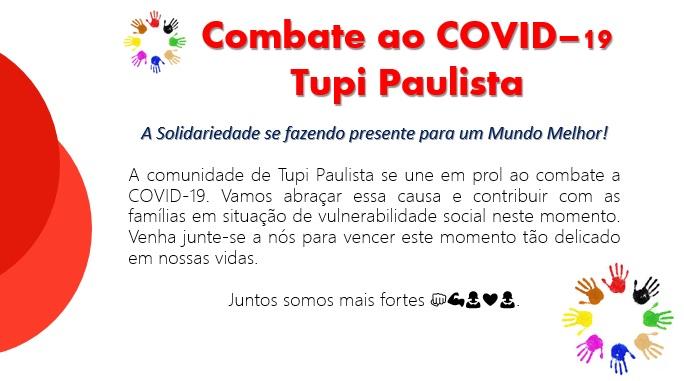 Combate ao COVID-19 Tupi Paulista