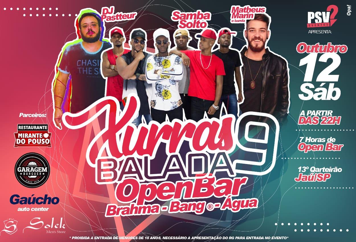 XURRASBALADA 9 - OPEN BAR