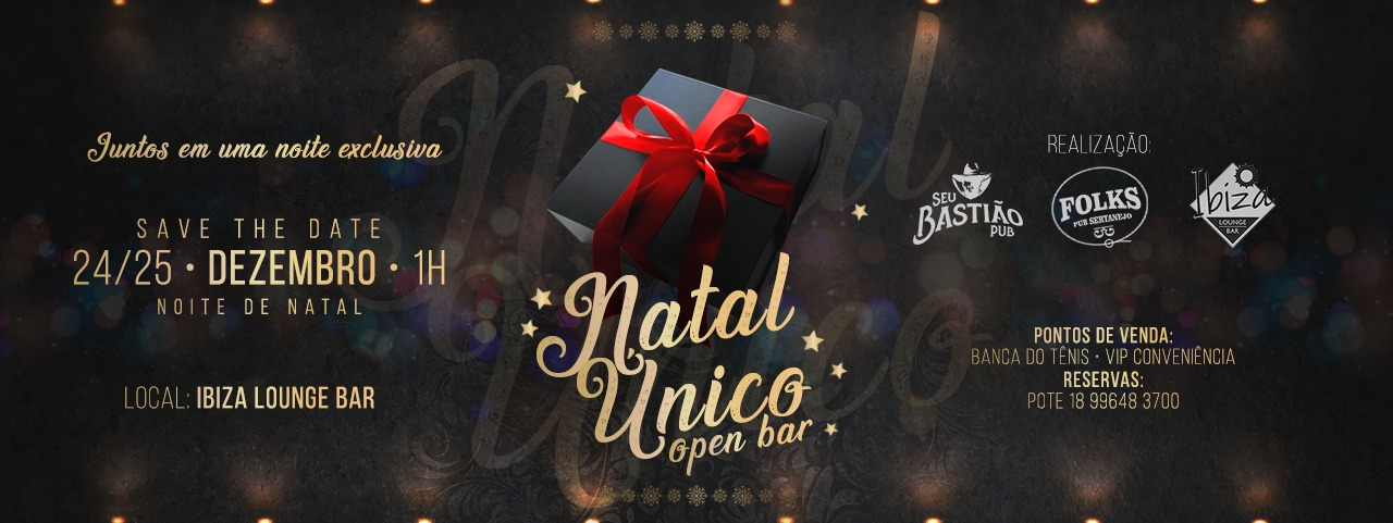 Natal Único Open Bar